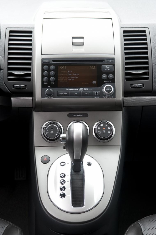 2012 Nissan Sentra SL Sedan Center Console Picture