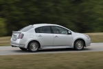 2012 Nissan Sentra SR Special Edition Sedan in Brilliant Silver - Driving Rear Right Three-quarter View