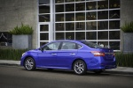 2013 Nissan Sentra SR in Metallic Blue - Static Rear Left Three-quarter View