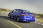 2013 Nissan Sentra SR in Metallic Blue - Driving Rear Left View