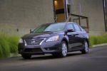 2013 Nissan Sentra SL in Amethyst Gray - Static Front Left Three-quarter View