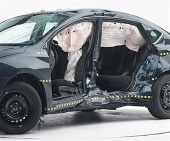 2015 Nissan Sentra IIHS Side Impact Crash Test Picture