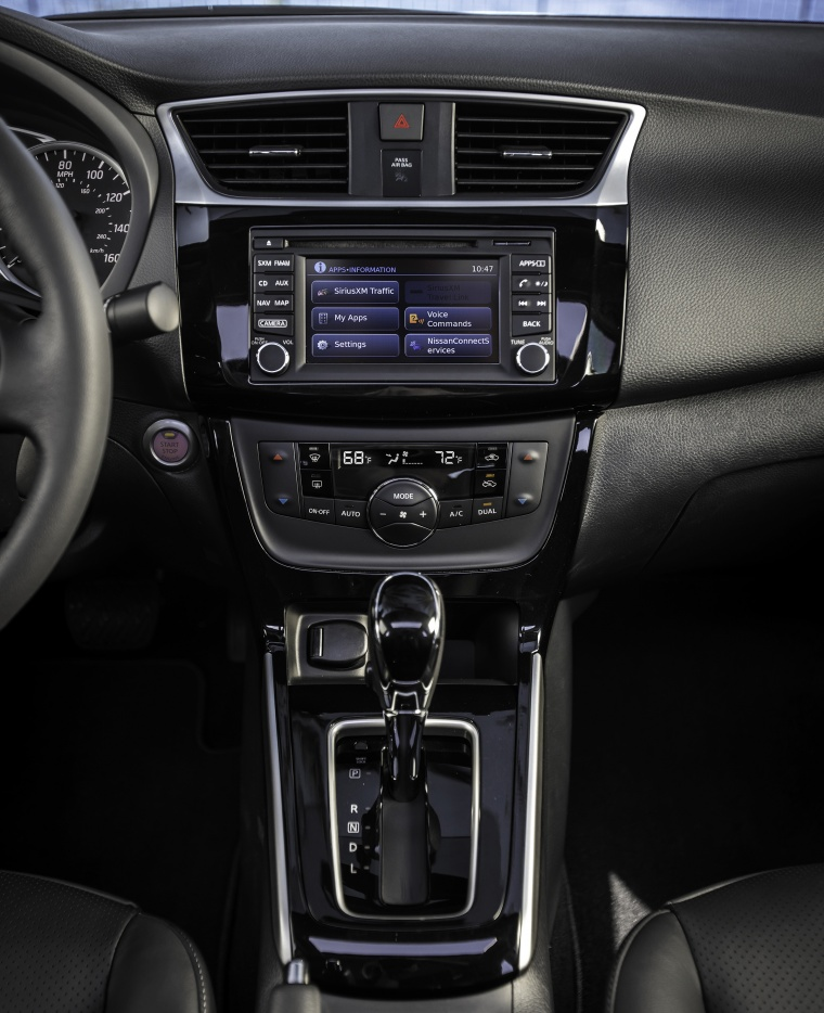 2017 Nissan Sentra Center Stack Picture