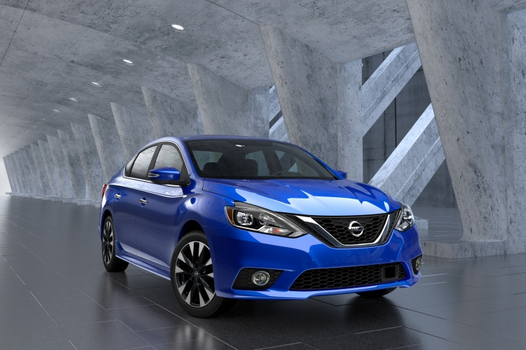 2017 Nissan Sentra SR in Deep Blue Pearl from a front right view