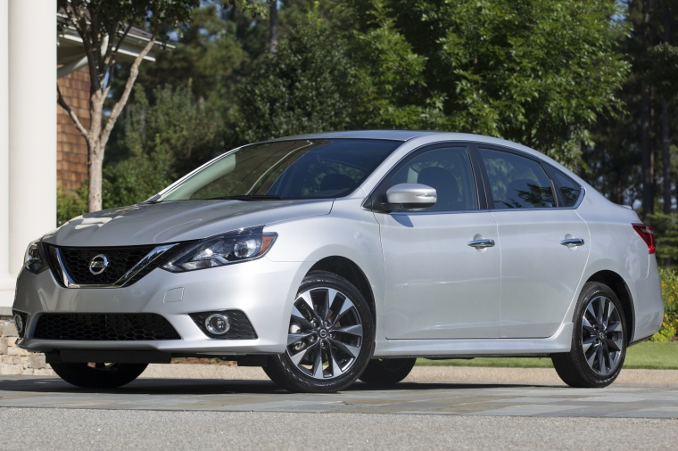 2017 Nissan Sentra SR Turbo in Brilliant Silver from a front left three-quarter view
