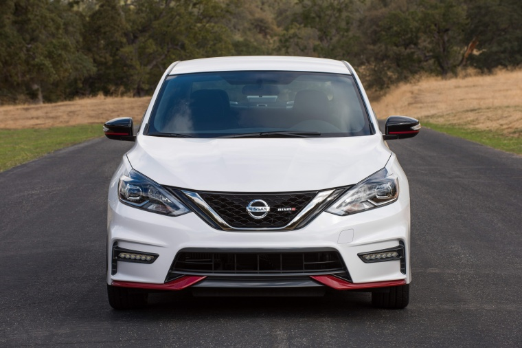 2017 Nissan Sentra NISMO in Fresh Powder from a frontal view