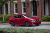 2017 Nissan Sentra SR Turbo in Red Alert from a front right three-quarter view