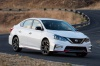 2017 Nissan Sentra NISMO in Fresh Powder from a front right three-quarter view