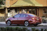 2017 Nissan Sentra SL in Cayenne Red Pearl Metallic - Static Rear Left Three-quarter View