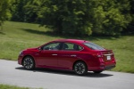 2017 Nissan Sentra SR Turbo in Red Alert - Driving Rear Left Three-quarter View