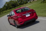 2018 Nissan Sentra SR Turbo in Red Alert - Driving Rear Left View