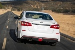 2018 Nissan Sentra NISMO in Aspen White - Driving Rear View