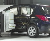 2011 Nissan Versa IIHS Side Impact Crash Test Picture