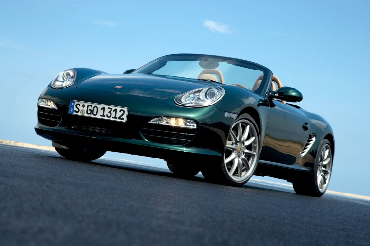 2011 Porsche Boxster In Malachite Green Metallic Color Static Front Left Three Quarter View