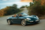 2012 Porsche Boxster in Malachite Green Metallic - Driving Front Right Three-quarter View