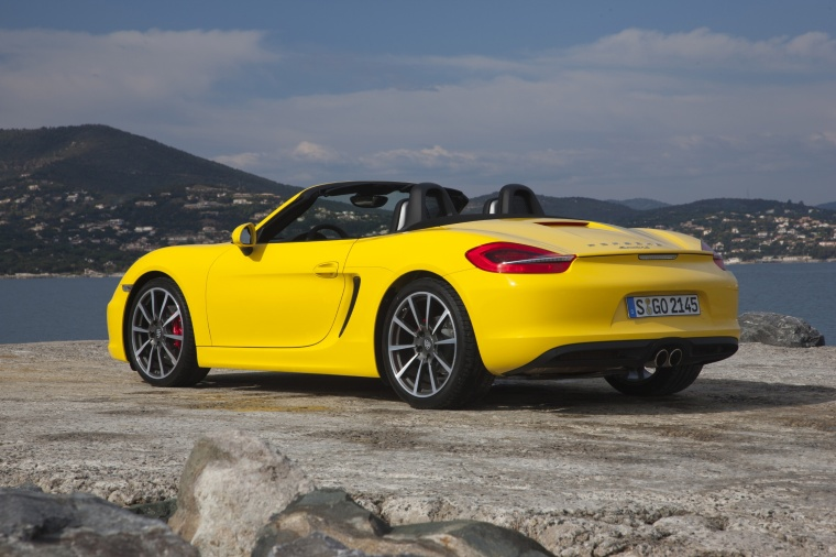 2013 Porsche Boxster S In Racing Yellow Color Static