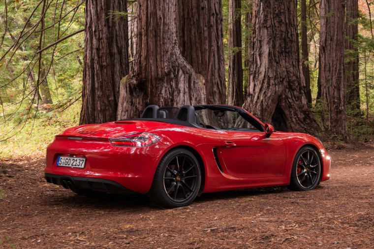 2015 Porsche Boxster Gts In Guards Red Color Static Rear Right