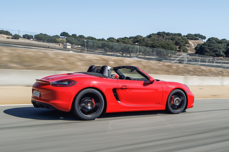 2015 Porsche Boxster Gts In Guards Red Color Driving
