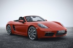 2018 Porsche 718 Boxster S in Lava Orange - Static Front Right Three-quarter View