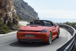 2018 Porsche 718 Boxster S in Lava Orange - Driving Rear Right View