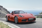 2018 Porsche 718 Boxster S in Lava Orange - Driving Front Right Three-quarter View