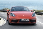 2018 Porsche 718 Boxster S in Lava Orange - Driving Frontal View