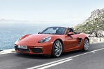 2018 Porsche 718 Boxster S in Lava Orange - Driving Front Left Three-quarter View
