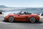 2018 Porsche 718 Boxster S in Lava Orange - Driving Left Side View