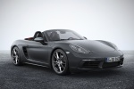 2018 Porsche 718 Boxster in Agate Gray Metallic - Static Front Right Three-quarter View