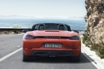 2018 Porsche 718 Boxster S in Lava Orange - Driving Rear View