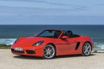 2018 Porsche 718 Boxster S in Lava Orange - Static Front Left Three-quarter View