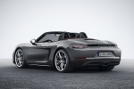 2018 Porsche 718 Boxster in Agate Gray Metallic - Static Rear Left Three-quarter View