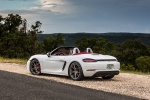 2018 Porsche 718 Boxster S in Carrara White Metallic - Static Rear Left Three-quarter View