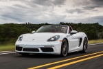 2018 Porsche 718 Boxster S in Carrara White Metallic - Driving Front Left View