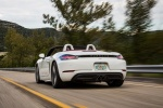 2018 Porsche 718 Boxster S in Carrara White Metallic - Driving Rear Left View