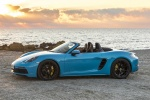 2018 Porsche 718 Boxster GTS in Miami Blue - Static Side View