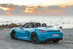 2018 Porsche 718 Boxster GTS in Miami Blue - Static Rear Left Three-quarter View