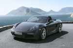 2018 Porsche 718 Boxster in Agate Gray Metallic - Driving Front Left View