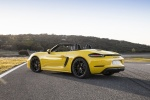 2018 Porsche 718 Boxster GTS in Racing Yellow - Static Rear Left Three-quarter View