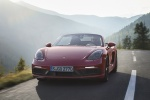 2018 Porsche 718 Boxster GTS in Carmine Red - Driving Frontal View