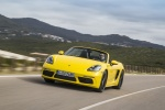 2018 Porsche 718 Boxster in Racing Yellow - Driving Front Left View