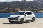 Picture of a 2019 Porsche Cayenne AWD in White from a front left three-quarter perspective