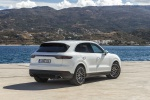 Picture of a 2019 Porsche Cayenne AWD in White from a rear right three-quarter perspective