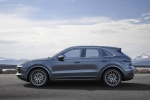 Picture of a 2019 Porsche Cayenne S AWD in Biscay Blue Metallic from a right side perspective