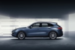2019 Porsche Cayenne AWD in Biscay Blue Metallic - Static Left Side View