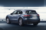 2019 Porsche Cayenne AWD in Biscay Blue Metallic - Static Rear Left Three-quarter View