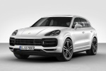 Picture of a 2019 Porsche Cayenne Turbo AWD in White from a front left perspective