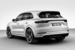 Picture of a 2019 Porsche Cayenne Turbo AWD in White from a rear left three-quarter perspective