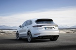Picture of a 2019 Porsche Cayenne Turbo AWD in White from a rear left perspective