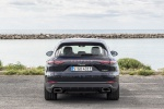 Picture of a 2019 Porsche Cayenne e-Hybrid AWD in Moonlight Blue Metallic from a rear perspective